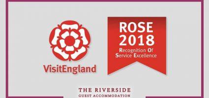 The Riverside wins 2018 VisitEngland ROSE award!